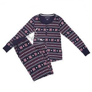 NAUTICA Women's 2-piece Pajama Set Textured Micro